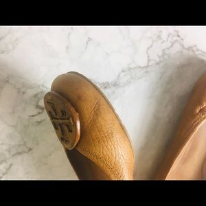Tory Burch Shoes - Tory Burch leather flats size 6 reva